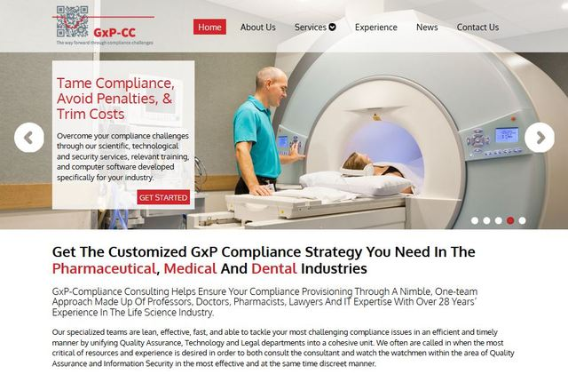 Xcellimark developed a custom website representing the impressive brand identity of GxP-CC.
