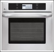 LG LWS3081ST 4.7 cu. ft. Single Wall Oven with Convection Bake/Broil LCD Touch Screen Control Gourmet Recipe Bank