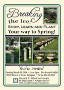 You're invited to Milne's Gardening event on March 30, 2014