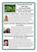 Read about our special gardening expert guests