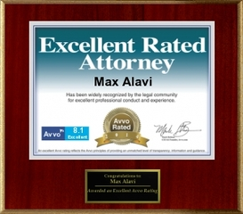 "Max Alavi, Attorney at Law, Receives ""Excellent"" Rating by AVVO in the Areas of Estate Planning and Probate"