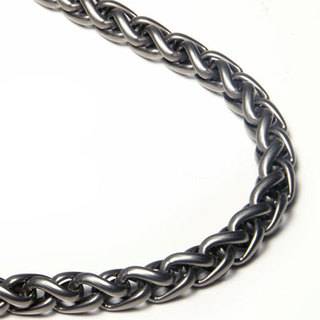 Titanium Kay Moves Men's Jewelry Fashion Forward with the Innovative Style of a Titanium Wheat Link Chain Necklace