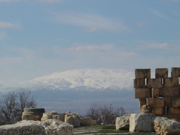 Roman ruins in the Bekaa Valley