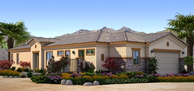 Desert Princess Homes at Desert Princess Country Club offers three architecturally inspired floor plans ranging from 1,860 to 2,100 square feet of living space, starting in mid $300,000's.