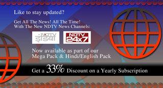 WatchIndia TV Launch Two NDTV Live Hindi TV Channels