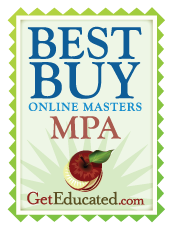 Top 13 Best Buys in Online MPA Degrees: Masters of Public Administration - GetEducated.com's 2010 Online Business S…