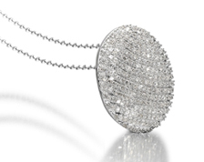 Stepping Stone Diamond Pave Pendant by Icecool.co.uk