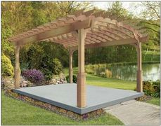 "8' x 12' Free Standing Kit, No Deck, Standard Braces, Straight Posts, No Privacy Panel, 16"" Top Runner Spacing"