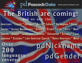 Peacock Data talks about the language of names