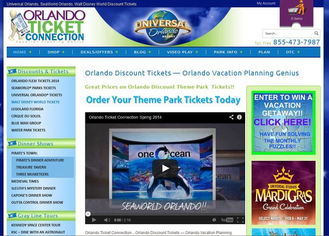 As an authorized ticket re-seller for Universal Orlando®, Walt Disney World® Resort, SeaWorld® Parks and Entertainment,