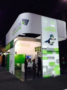 One of the trade show booths at Exhibitor 2014