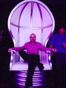 Our founder, Willis Wood in the throne at the trade show of trade shows, Exhibitor 2014 in Las Vegas.