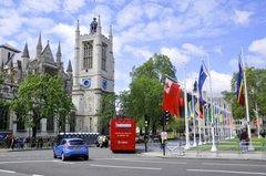 Street scene on London during the Queen Diamond Jubilee on June 1 2012 in London England