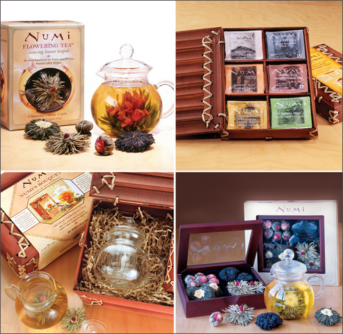 Numi offers a variety of premium tea and Flowering Tea gift sets.