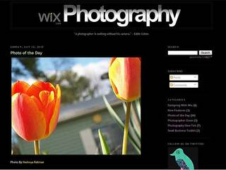 Website Builder Wix Creates Photography Blog for Users to Showcase their Work and Enhance their Portfolios
