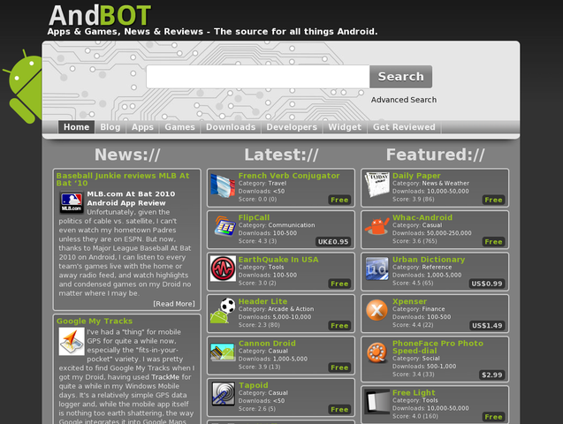 AndBOT.com - Android Market, News, Hardware, Apps, Games