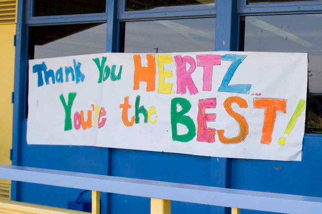 Students Thank Hertz Furniture for Classroom Donation