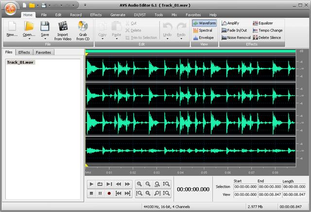AVS Audio Editor 6.1