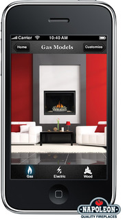 Introducing NAPOLEON® Fireplaces NEW Fireplace Design Studio iPhone Application