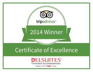 Delsuites Awarded 2014 TripAdvisor Certificate of Excellence
