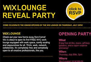 New Wix Design Lounge