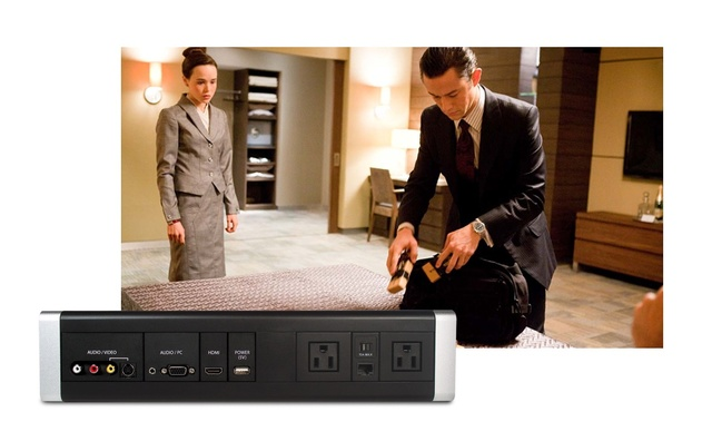 MediaHub Extender used in this hotel room set for the Warner Bros. film Inception