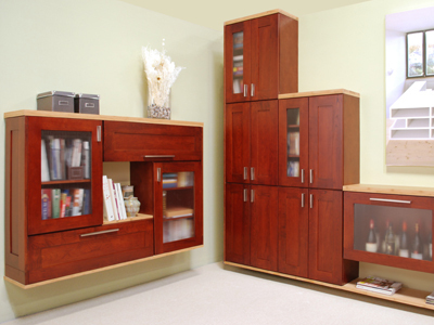 Cerise Shaker Cabinets For Office
