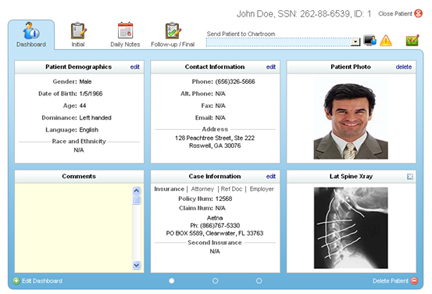 Patient dashboard - New touch screen with RAPID Doc 6.0