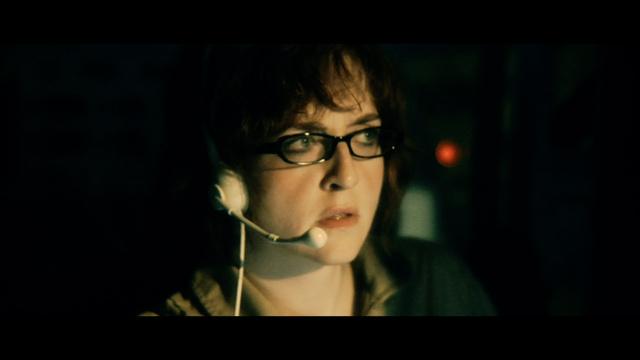Rachel DeWinter (Angela Funk) Pilots her space ship