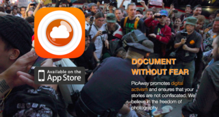PicAway secret photo app could save the lives of Journalists & Activists; secret photos uploaded directly to the clo…