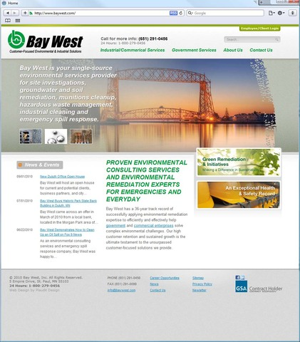 BayWest.com's New Home Page | Web Design by Plaudit Design