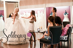 Choose your sample gown at Soliloquy Bridal Couture