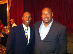 Coach Charlie Ward (left) and Leadership 1st Founder and CEO Derrick Boles (right).