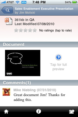 SAVO Mobile App for iPhone