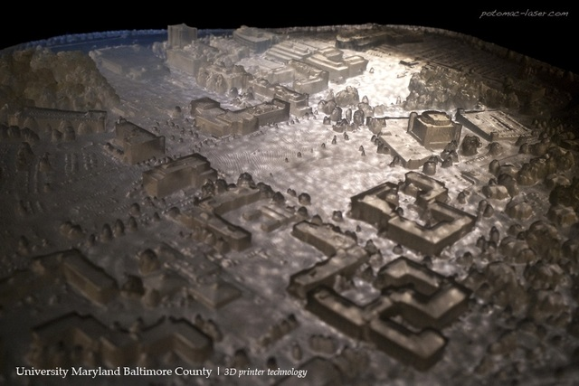 3D Printed Terrain Map of UMBC Campus