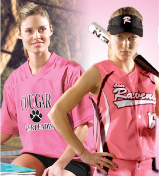 Teamwork Athetic Apparel products to support breast cancer awareness programs