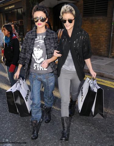 X Factor's Cher Lloyd & Katie Waissel leave Bench Covent Garden