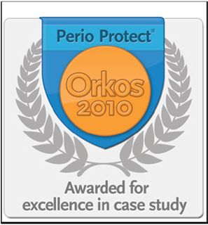 Dr. Stephen Gordon Receives the Perio Protect Orkos Award for Outstanding Case Study on Gum Disease Treatment