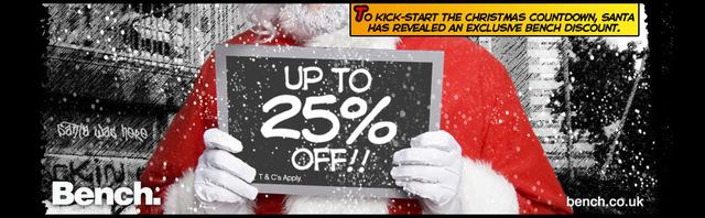 Santa reveals exclusive 25% Bench discount