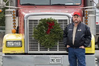 Fikes Truck Line Volunteers Trailer for Wreaths Across America
