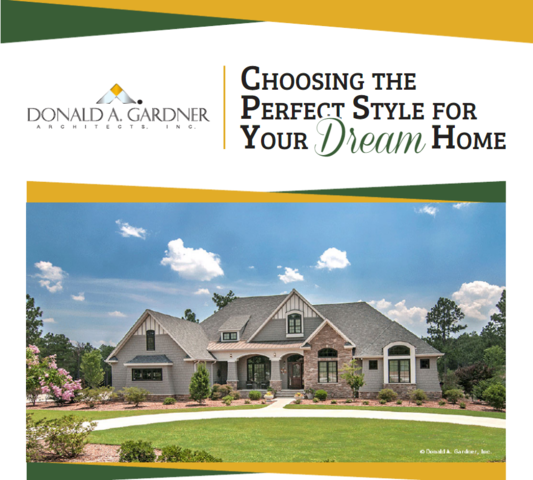 Donald Gardner hopes to guide your search for the perfect home plan with their informative white paper on architectural styles.