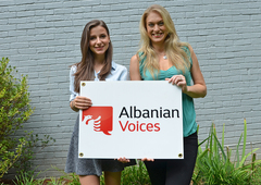 Ashley Wood and Bora Shehu from Albanian Voices