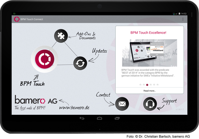 BPM Touch for mobile process capturing and modeling
