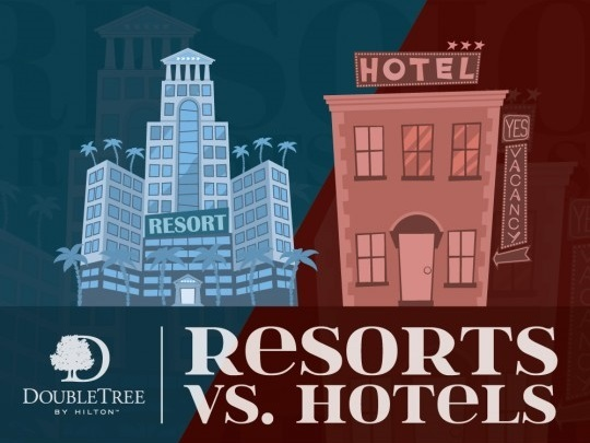DoubleTree Ocean Point Resort & Spa clearly defines the differences between resorts and hotels with their new infographic.