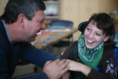 Vito Bigioni and his daughter Emily who was born with a brain condition known as pachygyria