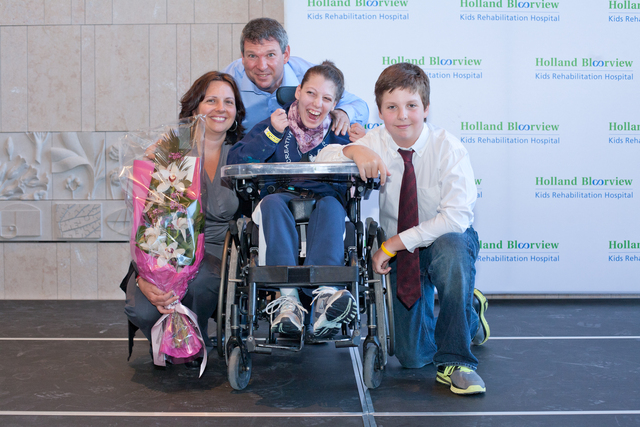 """The Bigioni Family raised $1 million for respite programs. """"I had a dream and made a promise to raise $1 million to keep the respite care programs at Holland Bloorview open forever,"""" stated Vito."""
