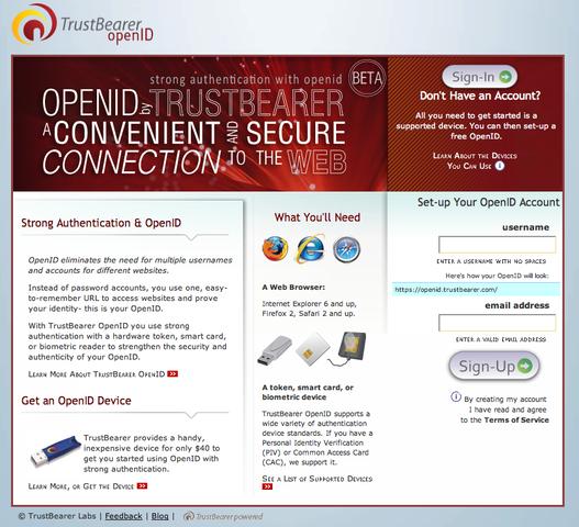 OpenID with TrustBearer