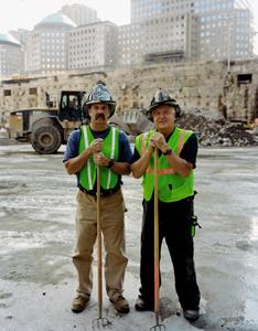 Ralph and Paul Geidel at Ground Zero