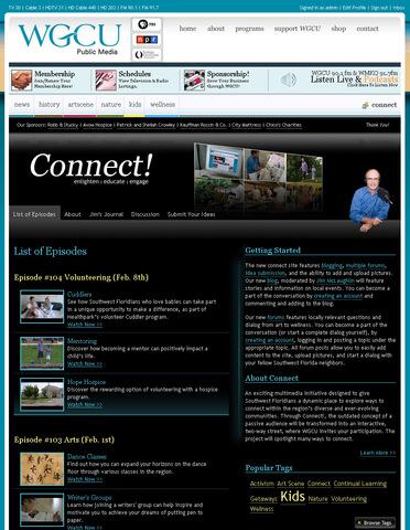 WGCU Connect Website