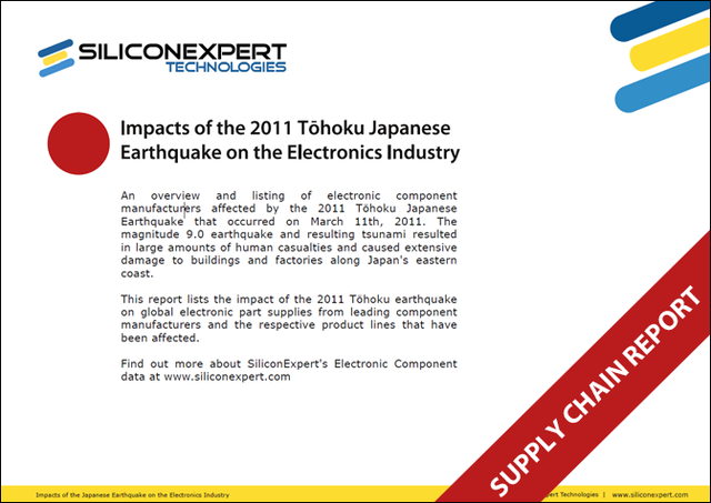 Electronic industry report on the impact to supply chain due to the March 2011 Japanese Earthquake